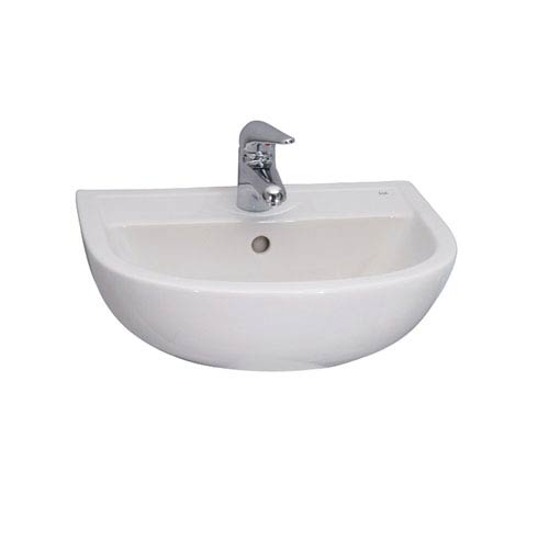 White 1-Hole Compact Wall Hung Basin 20-Inch