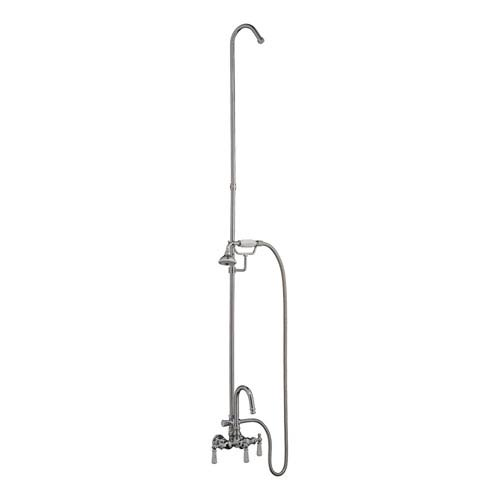 Clawfoot Tub Wall Mounted Filler With Diverter and Handshower