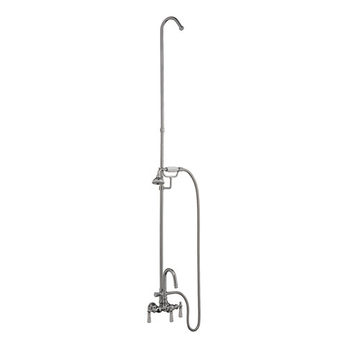 Barclay Products Clawfoot Tub Wall Mounted Filler With Diverter and Handshower