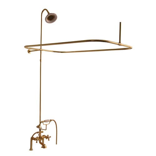 Polished Brass Complete Shower System