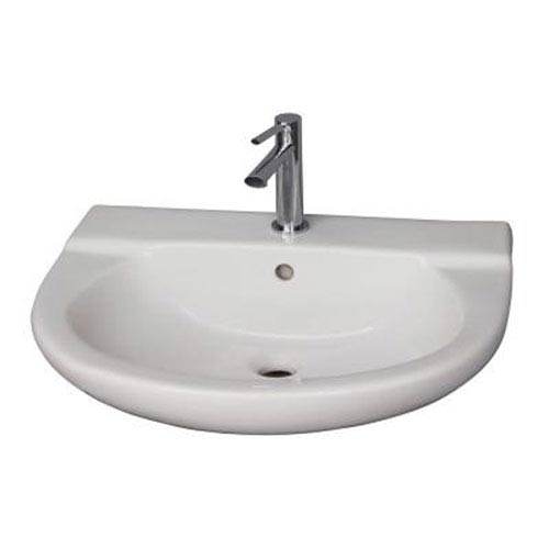 Jayden White Wall-Hung Basin with One Faucet Hole