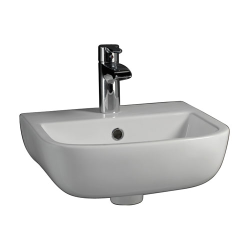 Barclay Products Series 600 White Large Wall Hung with One Faucet Hole