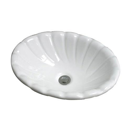 Corona White Drop-In Sink