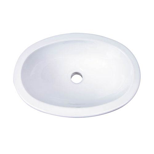 Lily White Drop In Bathroom Sink