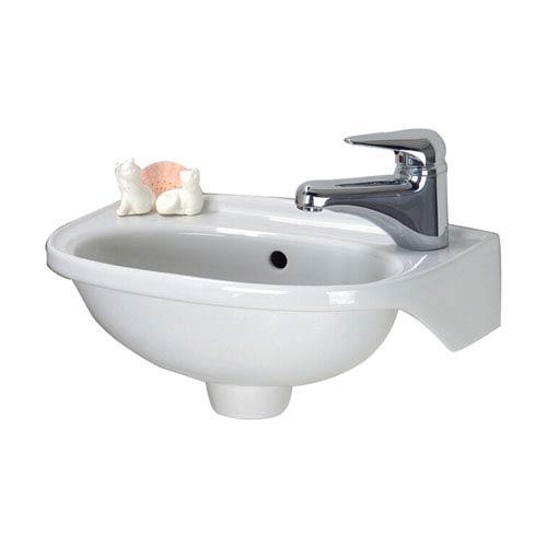Tina White Wall-Mounted Sink