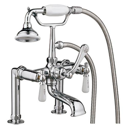 Clawfoot Tub Rim Mounted Faucet With Handshower