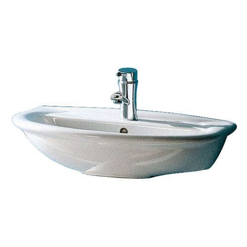 Barclay Products Karla White 450 Wall-Hung Basin with One Faucet Hole