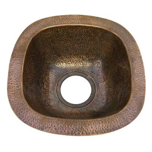 Small Antique Copper Prep Sink