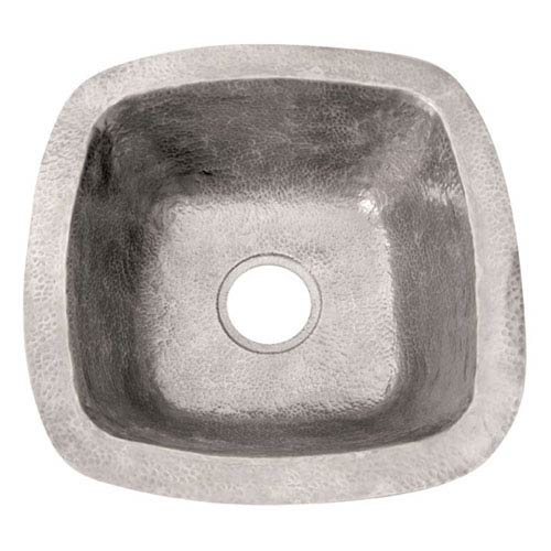 Hammered Pewter 18-Inch Prep/Bar Sink