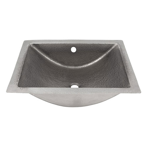 Fuller Brushed Nickel 20-Inch Concave Undermount Lavatory Sink