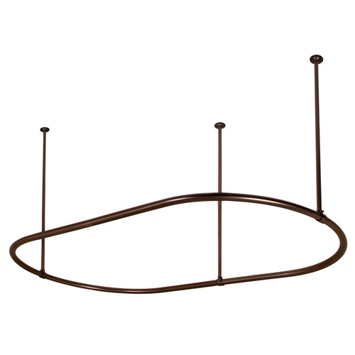 Barclay Products 48-Inch Oil Rubbed Bronze Oval Shower Curtain Ring