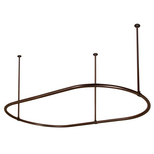 72-Inch Oil Rubbed Bronze Oval Shower Curtain Ring