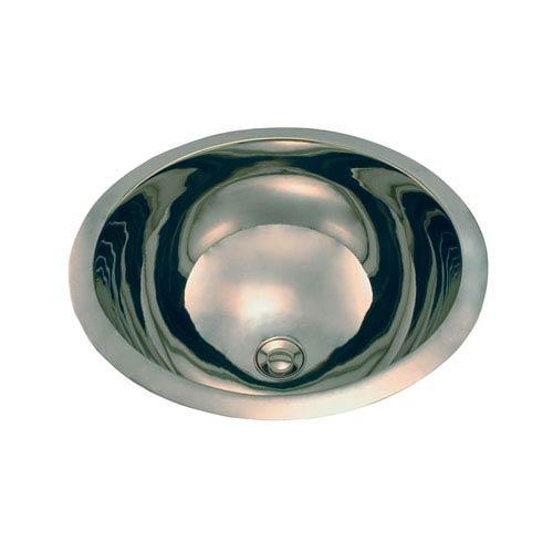 Alex Polished Nickel 13-Inch Round Copper Sink