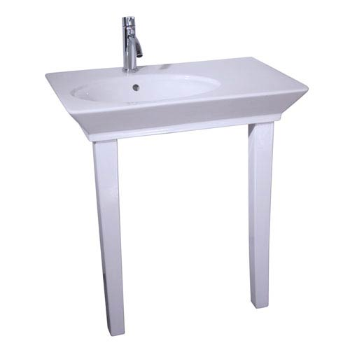 Opulence White 1-Hole Console 31-1/2-Inch