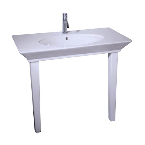 Opulence White 1-Hole Console 39-1/2-Inch