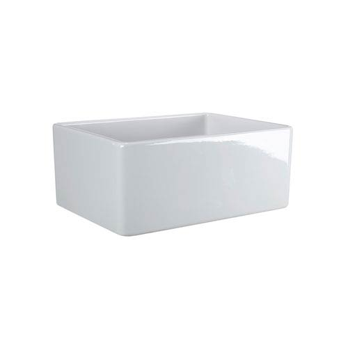 Baird White 20-Inch Single Bowl Fireclay Farmer Sink