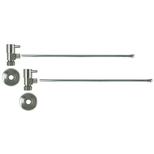 Chrome Lever Handles Lavatory Supply Kit with Tubes