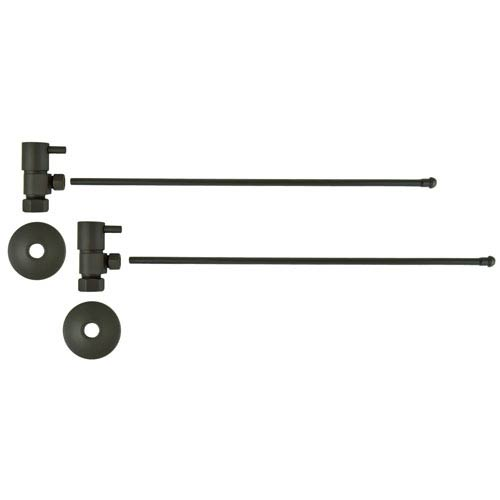 Oil Rubbed Bronze Lever Handles Lavatory Supply Kit with Tubes
