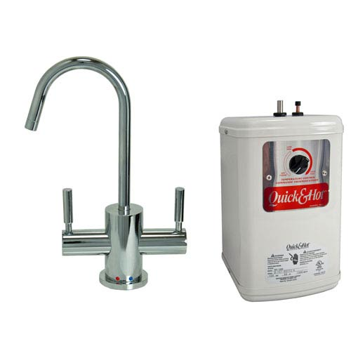 Chrome Hot & Cold Water Dispenser with Heating Tank