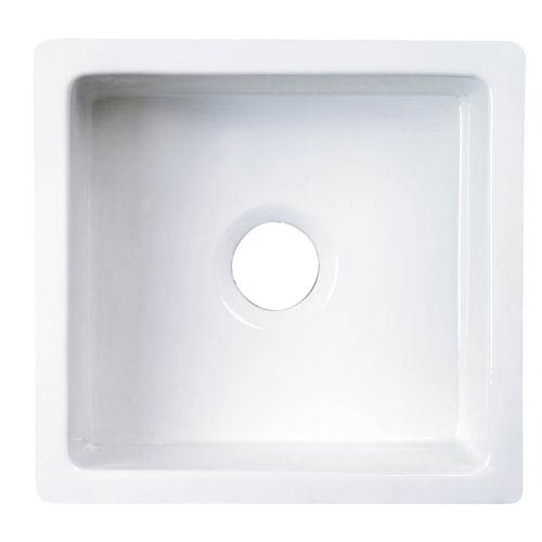 Silvia Large White Fireclay Kitchen Sink