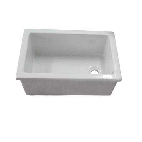 Barclay Products White Fire Clay Utility Sink 23 Inch X 15 Inch