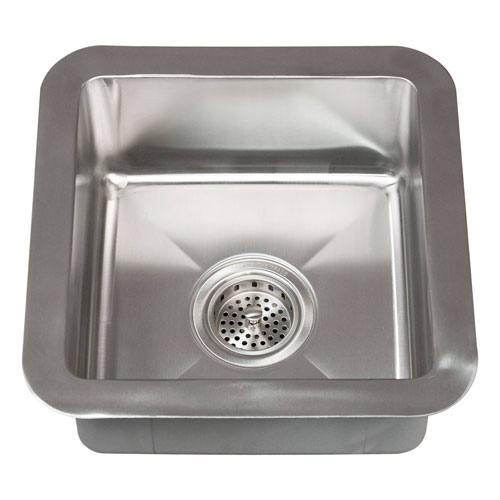 Barclay Products Rena Stainless Steel 15 Inch Square Undermount Prep Sink