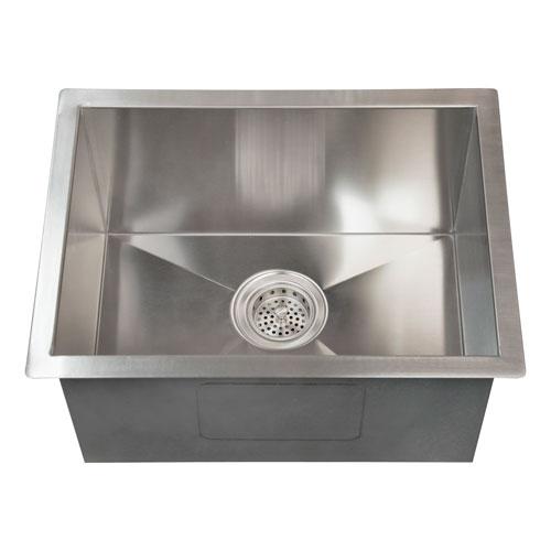 Sabrina Stainless Steel 20-Inch Rectangular Undermount Prep Sink