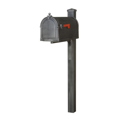 Berkshire Curbside Swedish Silver Mailbox and Wellington Direct Burial Mailbox