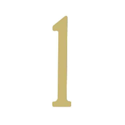 Brass 3-Inch House Number One