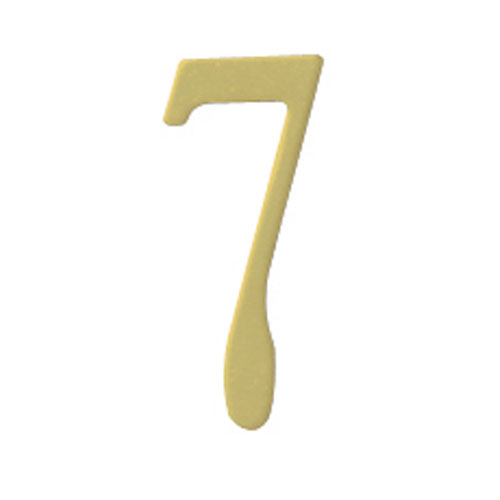 Brass 3-Inch House Number Seven