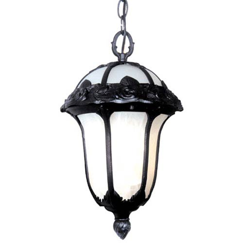 Rose Garden Small Chain Pendant Light with Alabaster Glass