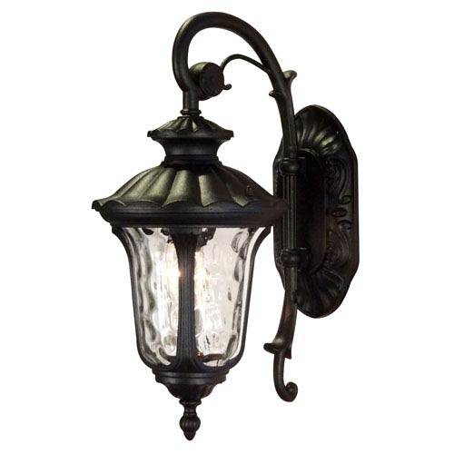 Chateau Black Small Top Mount Exterior Wall Light Fixture
