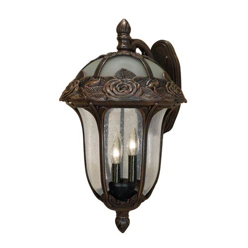 Special Lite Products Company Rose Garden Large Top Mount Light with Seedy Glass