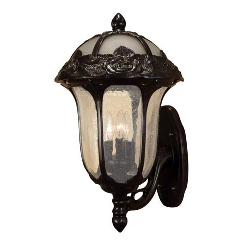 Special Lite Products Company Rose Garden Large Bottom Mount Light with Seedy Glass