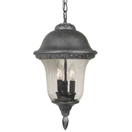 Glenn Aire Large Chain Pendant Light with Clear Seedy Glass