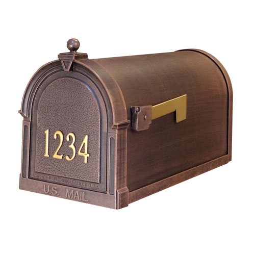 Berkshire Curbside Mailbox with Front Numbers