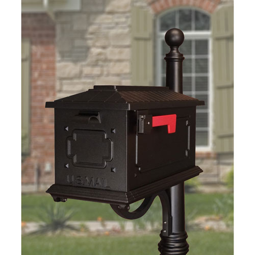 Kingston Black Curbside Mailbox