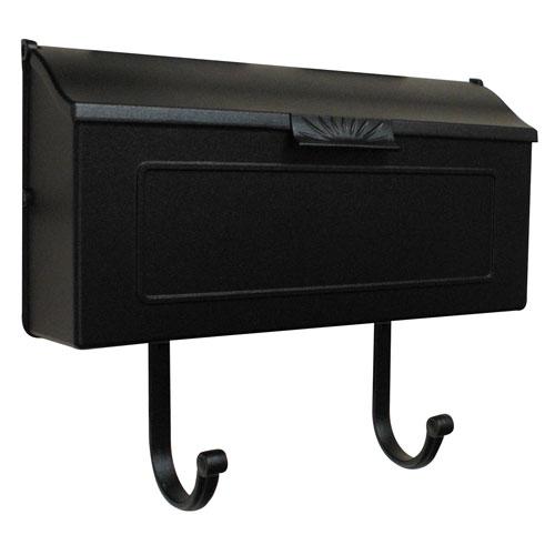 Horizon Black Horizontal Mailbox