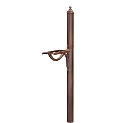 Richland Copper Decorative Mailbox Post