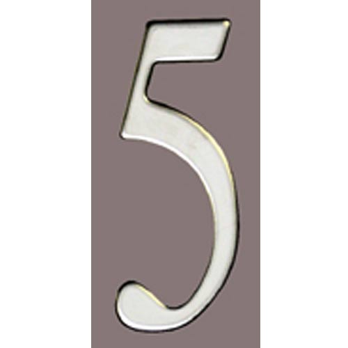 Stainless Steel 2 Inch House Number Five