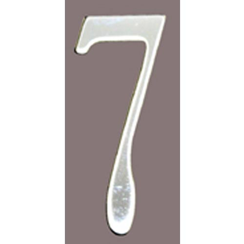 Stainless Steel 2-Inch House Number Seven