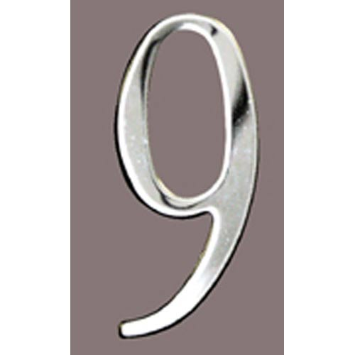 Stainless Steel 2-Inch House Number Nine