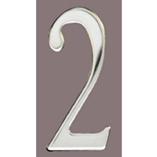 Stainless Steel 3-Inch House Number Two