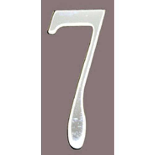 Stainless Steel 3-Inch House Number Seven