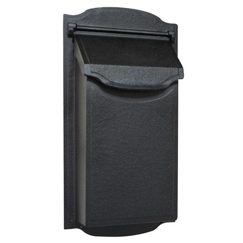 Contemporary Vertical Black Mailbox