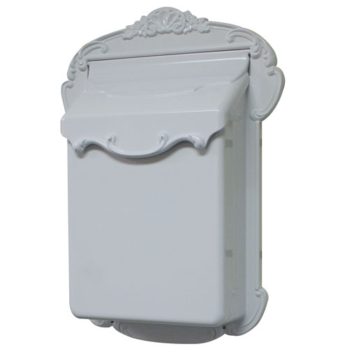Victoria Vertical White Mailbox