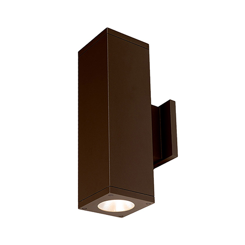 Cube Architectural Bronze 6-Inch Two-Light 3500K LED 85 CRI 7263 Lumens Wall Light with 40  Degree Beam Spread
