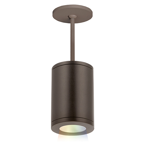 Tube Architectural ilumenight Bronze LED 90 CRI Outdoor Pendant with 15  Degree Beam Spread