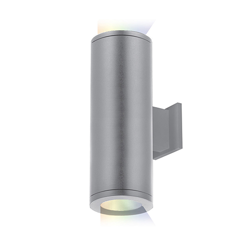 Tube Architectural ilumenight Graphite 5-Inch Two-Light LED 90 CRI 2400 Lumens Wall Light with 33  Degree Beam Spread