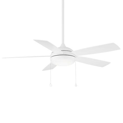 Disc Matte White 52-Inch LED Ceiling Fan